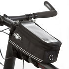 BTR Waterproof Bike Frame Bag With Mobile Phone Holder & Puncture Repair Patches