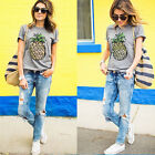 Summer Women's Graphic Printed Loose T-shirt Short Sleeve Casual Tops Blouse Tee