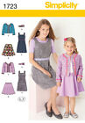 Sew & Make Simplicity 1723 SEWING PATTERN - Girls JUMPERS SKIRTS JACKETS 3-6