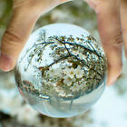 30-100mm Clear Magic Crystal Glass Healing Ball Sphere Photography Props Ball