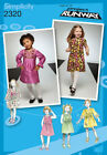 Sew & Make Simplicity 2320 SEWING PATTERN - Girls Project Runway DRESSES 1/2-3