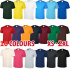Mens Casual Short Sleeve Cotton Tee Crewneck Top Undershirt Summer T-Shirt Men