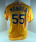 2017 Oakland Athletics Sean Manaea #55 Game Issued Gold Jersey