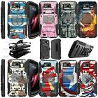 For LG X Venture Shockproof Dual Layer w/ Stand Holster Clip Case Animal Designs