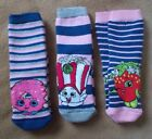 Girls Slipper Socks - SHOPKINS - 3 Designs -  Child Size 6/8.5 -  New