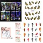 Nail Art Transfer Sticker Feather Nail Water Decals DIY Nail Beauty B20E
