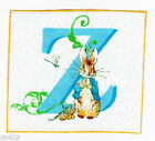"""3.5"""" Beatrix potter z rabbit square nursery wall safe fabric decal cut character"""