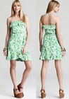 $148 Lilly Pulitzer Flor Green Bean Light My Fire Strapless Jersey Dress