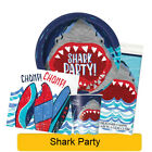 SHARK PARTY Birthday Party Tableware, Banners, Balloons & Decorations (UQ) NEW!!