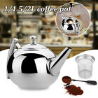 Stainless Steel Retro Teapot Loose Leaf Tea Coffee Pot Strainer Infuser Mesh Net