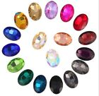 100PCS/300Pcs Mixed Colors Pointed OVAL Fancy Glass Stones (Various Sizes)
