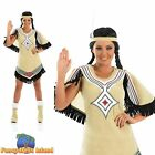Indian Scout Pocahontas Squaw Western Adult Womens Fancy Dress Costume