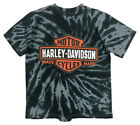 Harley-Davidson Little Boys' Bar & Shield Swirl Tie-Die T-Shirt, Black 1570735 $15.95 USD