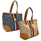 Tommy Hilfiger Purse Tote Shoulder Bag Th Monogram Jacquard Shopping Travel New