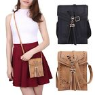 Womens Handbags Small Leather Crossbody Bag Purse Vintage Cell Phone Travel Bag image