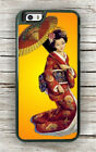 JAPANESE GEISHA TRADITIONAL UMBRELLA CASE FOR iPHONE 8 or 8 PLUS -hre4Z