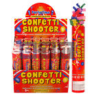 20cm Fun Sized Giant Mixed Confetti Shooter Party Poppers Shooters Cannon Red