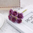 6Pcs 20mm DIY Silk Rose Flower Artificial Bouquet Wedding Party Home Decoration