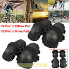 4 Pair  Knee Elbow Protective Pad Protector Gear Sports Tactical Airsoft Skate