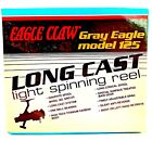 NEW Eagle Claw Gray Eagle Long Cast Titanium Carbon Body Spinning Fishing Reel