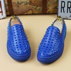 Chic Mens Spike Leather Flat Slip On Loafers Punk Rivet Creeper Sneaker Shoes nw
