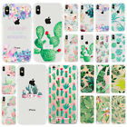 Fashion Succulents Pattern TPU Silicone Case Cover For iphone 6 6S 7 8 Plus X