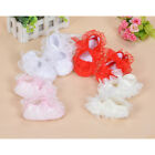 Baby Girls Satin Christening Shoes Pink White Red Ivory 0-3 3-6 6-9 Months