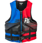 race for life vest top - Mens NEOPRENE Life Jacket Fly Racing Safety Vest Zip w Buckles Black Red Blue