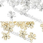 50 Little Four Leaf Clover Shamrock St. Patrick's Drop Charms Plated Brass Metal