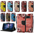 For Samsung Galaxy S8 Active G892A Bible Verses Wallet Cover Case Stand + Pen