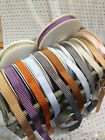 VINTAGE CHEVRONS textured woven Ribbon -12mm - 8 cols & var lengths Discontinued