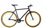 Fixie Fitnessbike Fixed Gear Pegado schwarz-gold singlespeed KS Cycling M171R