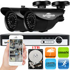 CCTV 4CH 1080N DVR IR-CUT Video Recorder Outdoor Home Security Camera System Kit