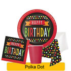 Polka Dot Birthday Range Tableware Balloons Decorations Supplies - CP