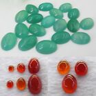 Natural Gemstones Oval Cabochon Ring Size Loose Beads Stone DIY Agate 8mm-25mm