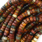"Multicolor Picasso Jasper Heishi Beads Gemstone 15.5"" Strand 4mm 6mm 8mm 10mm"
