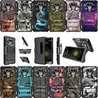 For LG G6 | G6 H870 Dual Layer Bumper Kickstand And Holster Combo Case - Camo