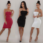 strapless red mini dress - Sexy Women Strapless Solid Bandage Backless Clubwear Casual Bodycon Mini Dress