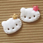 "40 pcs x 1.6"" Felt Padded Kitty Appliques w/Sequin Crown/Hello Baby Shower ST550"