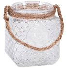 Glass Jar with Chicken Wire & Rooster Design Rope Handle Home Kitchen Farmhouse