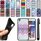 "For LG Tribute HD LS676 X Style 5"" X Skin Chevron TPU SILICONE Case Cover + Pen"