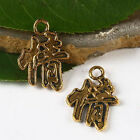 """16pcs dark gold tone Chinese word""""feeling"""" charms findings h2841"""