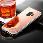 For Samusng Galaxy S9 Shockproof Hybrid Mirror 3D Soft TPU Case Cover Rose Gold
