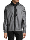 PRPS Luddite Men's Full Zip Tyvek/Polyester Gray - Black Jacket With Hidden Hood