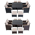 9 Pieces Rattan Dining Set Garden Furniture Woven Rattan Footrest 2 Colours