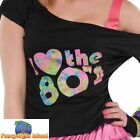 I Love the 80s Eighties T-Shirt Top Womens Hen Do Night Party Fancy Dress