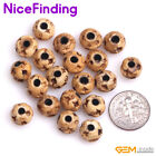 Round Big Hole Hand Carving Buffalo Bone Craft Beads For Jewelry Making DIY NF