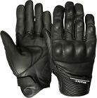 Weise Vagos Black Leather Sport Motorcycle Gloves RRP £44.99!!