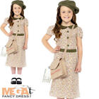 Wartime Girl Fancy Dress 1940s 30s Historical Book Day Kids Childs Costume New