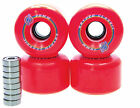 Longboard Rolle Kryptonics Classic 70mm / 78A ABEC Lager Set Ersatzrolle RED